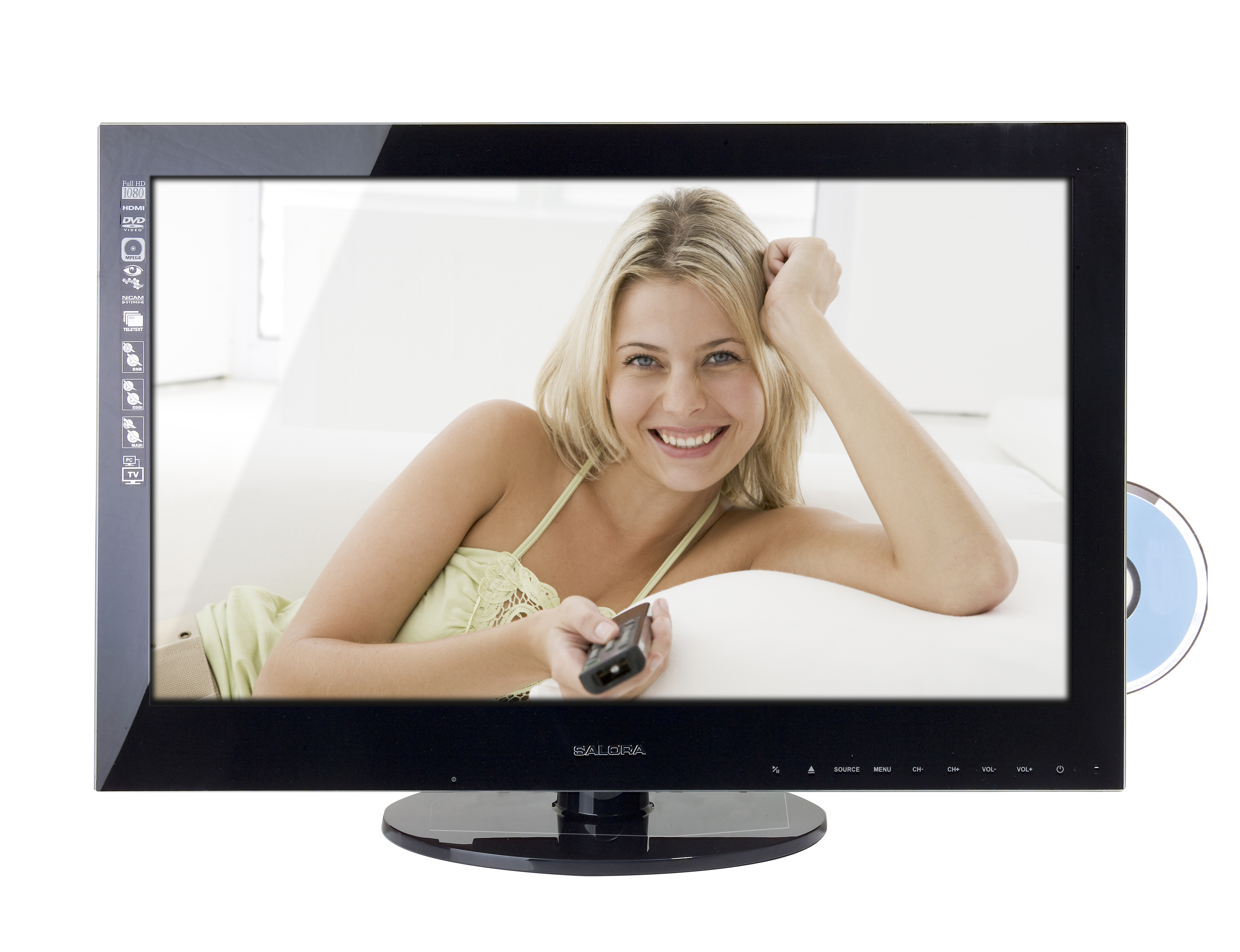 "Salora LCD 2441 FH DVX 24"" Full HD Nero TV LCD"