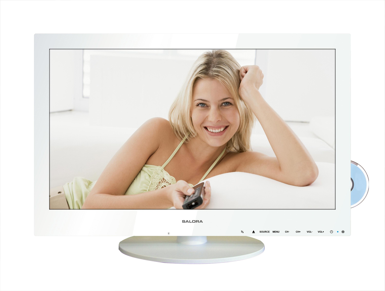 """Salora LCD 1941 DVX WH 19"""" HD Bianco TV LCD"""