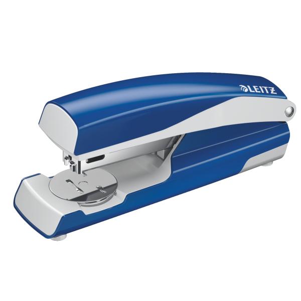 Leitz 5502 Blu, Acciaio inossidabile, Bianco cucitrice