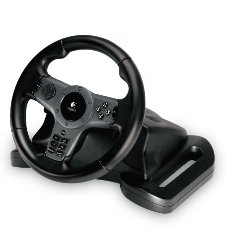 Logitech Driving Force Wireless Volante Playstation 2,Playstation 3 Nero