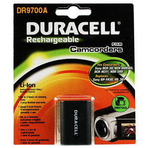 Duracell Camcorder Battery 7.4v 650mAh Ioni di Litio 650mAh 7.4V batteria ricaricabile