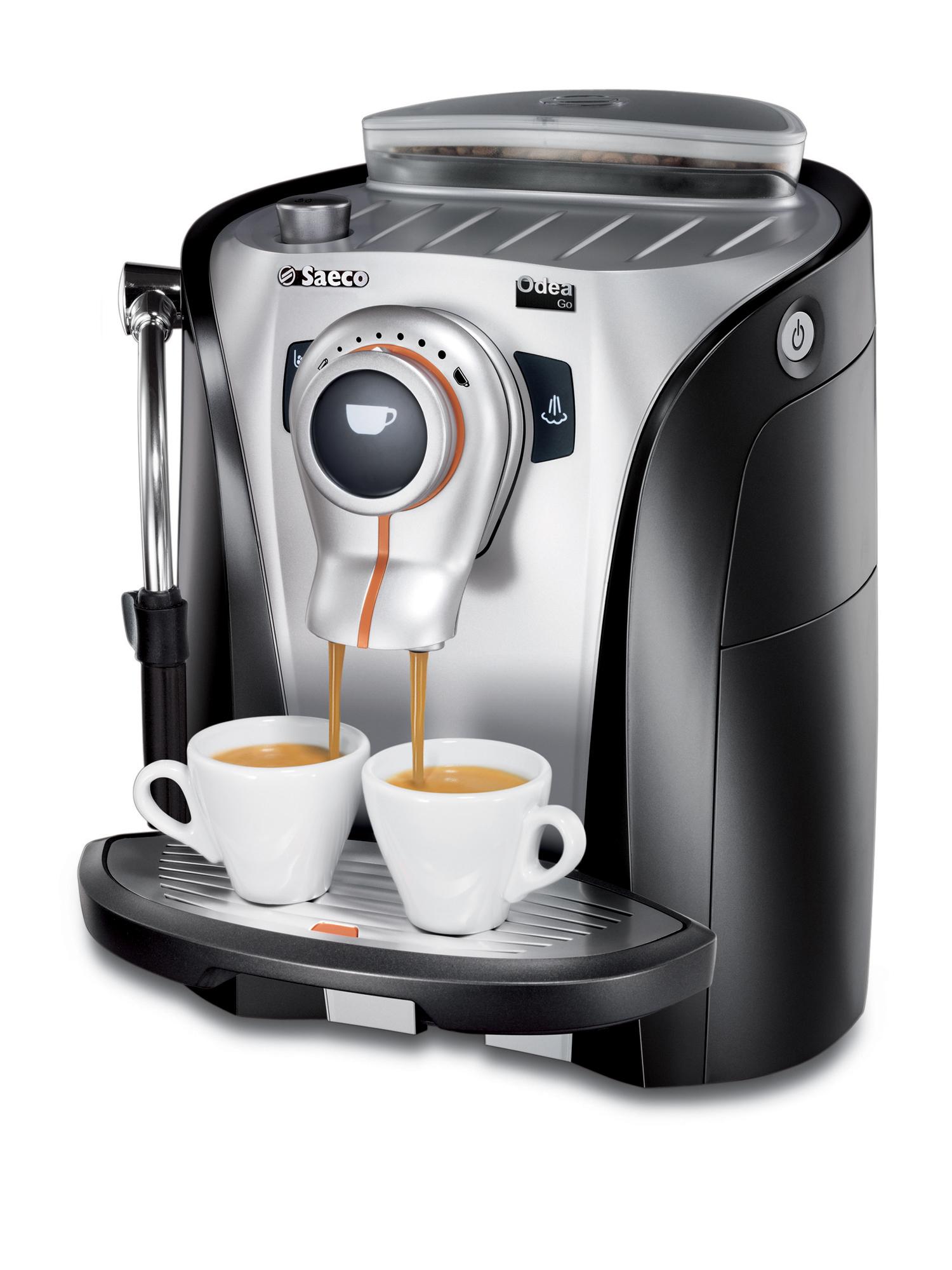Philips Saeco Odea Go Macchina per espresso 1.5L 2tazze Nero, Argento