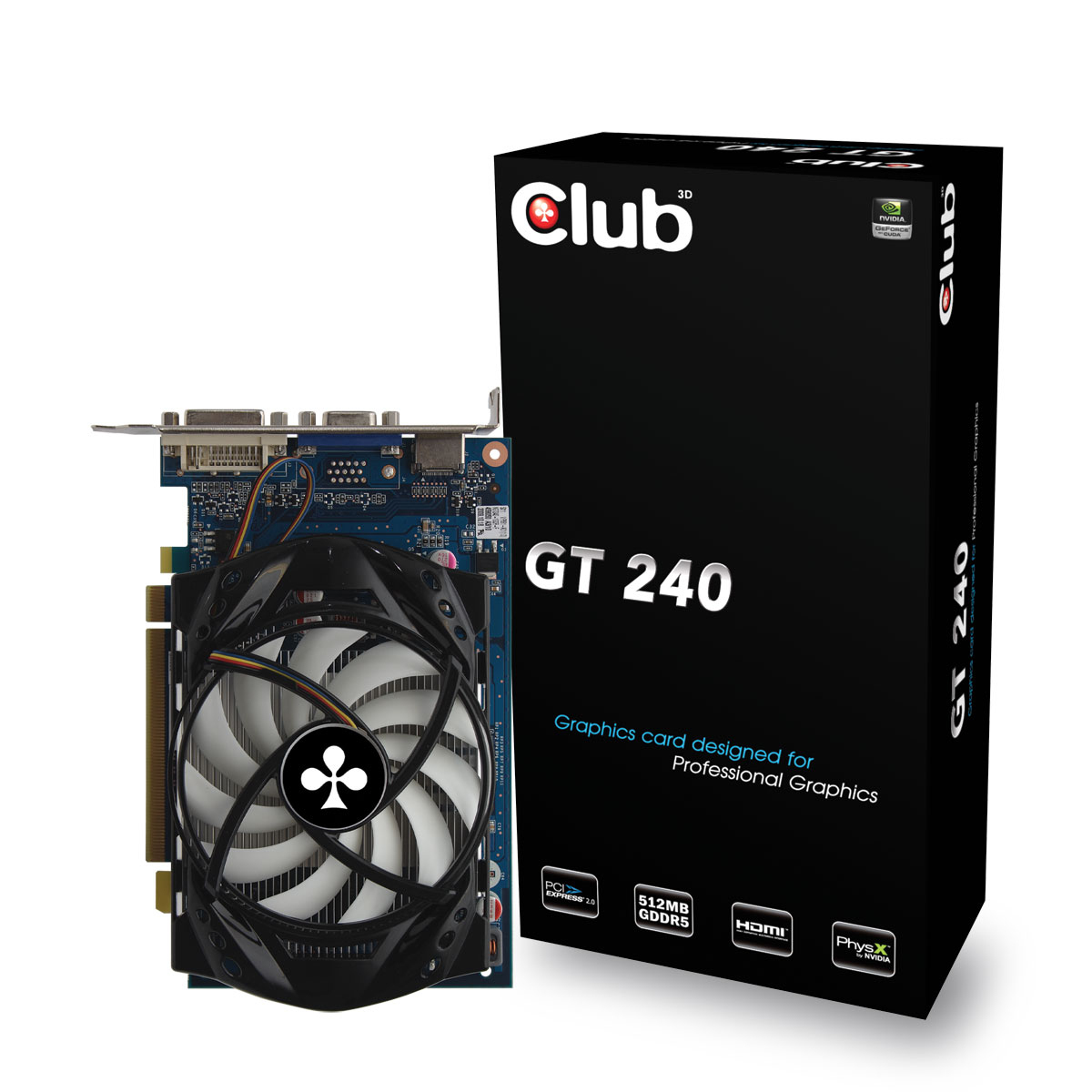 CLUB3D CGNX-G242WI GeForce GT 240 GDDR5 scheda video