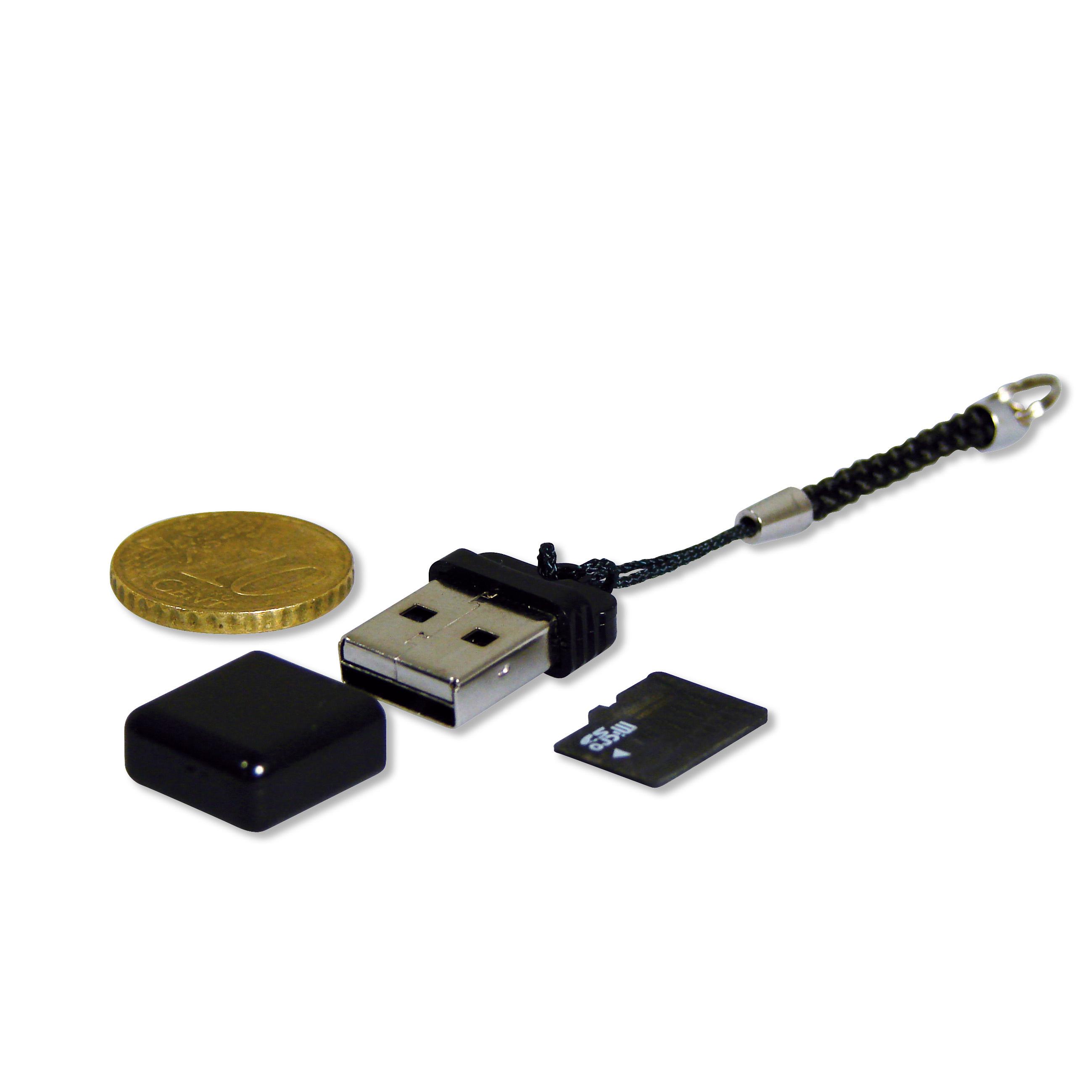 Eminent Micro SD Cardreader Nero lettore di schede