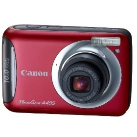 """Canon PowerShot A495 Fotocamera compatta 10MP 1/2.3"""" CCD 3648 x 2736Pixel Rosso"""