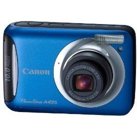 "Canon PowerShot A495 Fotocamera compatta 10MP 1/2.3"" CCD 3648 x 2736Pixel Blu"