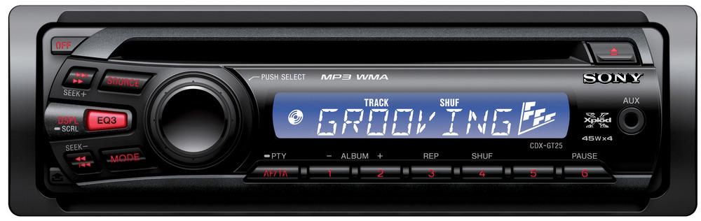 Sony CDX-GT25 180W Nero autoradio