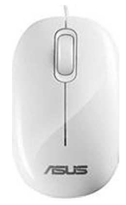 ASUS USB Optical Mouse USB Ottico 1000DPI Bianco mouse