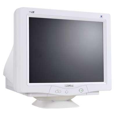"Philips 19"" real flat UXGA CRT monitor 19"" 1600 x 1200Pixel monitor CRT"