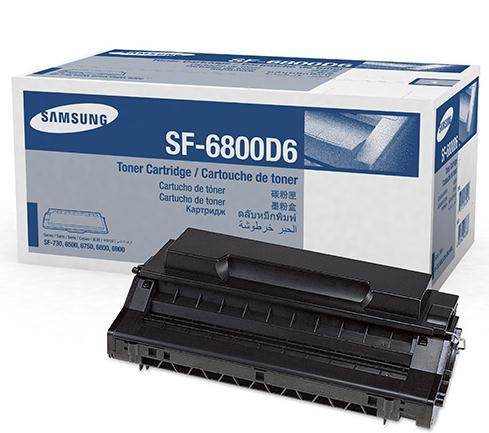 SAMSUNG SF-6800D6 Toner Cartridge - Black - Laser - 6000 Pages
