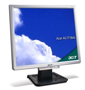 """Acer AL1716As 17"""" Argento monitor piatto per PC"""