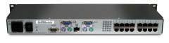 Fujitsu s2-1602 1U Nero switch per keyboard-video-mouse (kvm)
