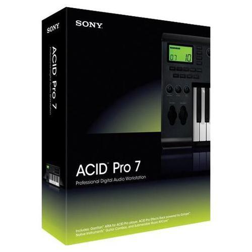 Sony ACID Pro 7, 1 user(s), Win, Windows 7/XP/Vista, 243 x 20 x 65 mm, 431 g, ENG