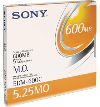 "Sony 5.25"" Magneto-Optical Disc, 600MB 600MB 5.25"" disco ottico-magnetico"