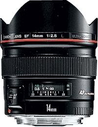 Canon EF 14mm 1:2.8L USM Nero