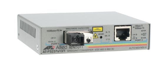 Allied Telesis 2-port FE Switch media converter 10/100TX to 100FX (SC), 15km 100Mbit/s convertitore multimediale di rete