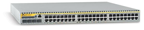 Allied Telesis 48-port 10/100TX managed FE L3 Switch w/ 4x SFP exp. bays Gestito L3 Argento