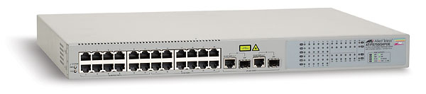Allied Telesis 24 x 10/100TX, 12 POE Capable + 2 1000T/SFP Web Smart Switch Gestito Supporto Power over Ethernet (PoE)