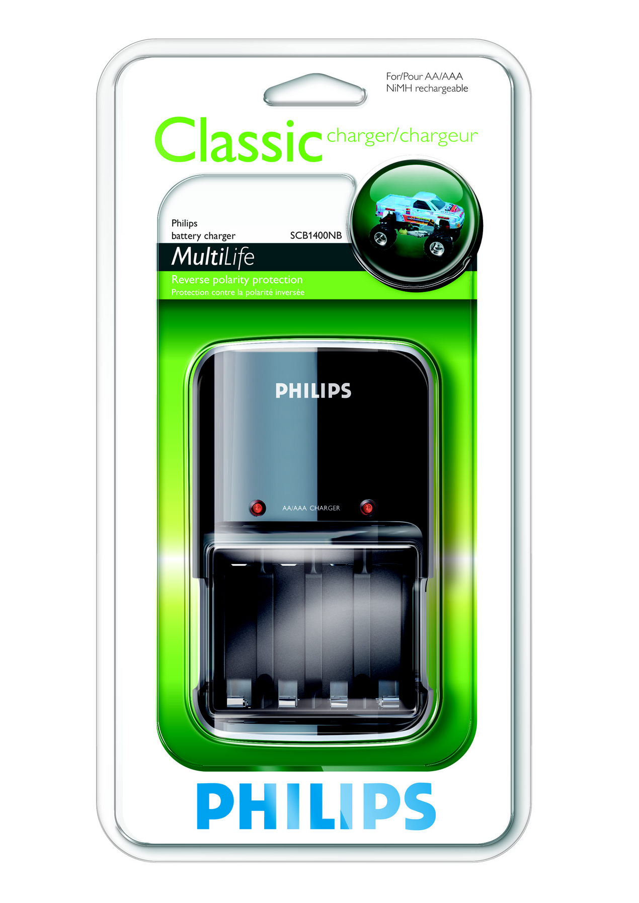 Philips MultiLife Caricabatterie SCB1400NB/12