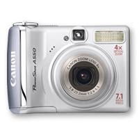 """Canon PowerShot A550 Fotocamera compatta 7.1MP 1/2.5"""" CCD Argento"""