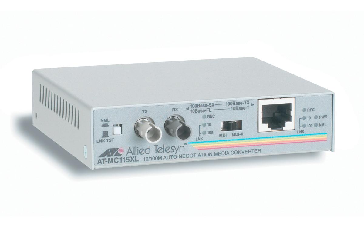 Allied Telesis AT-MC115XL-20 Fast Ethernet Media Converters 100Mbit/s convertitore multimediale di rete
