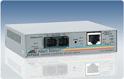 Allied Telesis 2 port Fast Ethernet switch media converter 10/100TX to 100FX (SC), 2km 100Mbit/s convertitore multimediale di rete