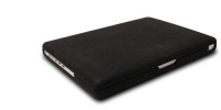 "Macally MacBook leather Snap-on cover 17"" Custodia a tasca Nero"