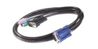 APC 1.8m KVM PS/2 Cable 1.8m Nero cavo per tastiera, video e mouse