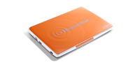"Acer Aspire One Happy 2-N57DQoo 1.66GHz N570 10.1"" 1024 x 600Pixel Arancione Netbook"