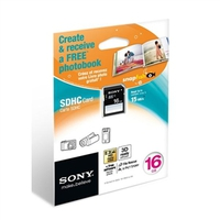Sony SDHC 16GB + Photo Book 16GB SDHC Classe 4 memoria flash