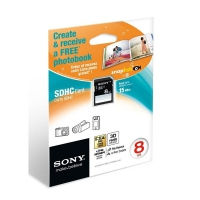 Sony SF8N4 + Photo Book 8GB SDHC Classe 4 memoria flash