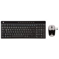 V7 CK2P0-7E2P RF Wireless QWERTZ Tedesco Nero tastiera