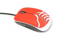 NGS Red Sneaker USB Ottico 800DPI Ambidestro mouse