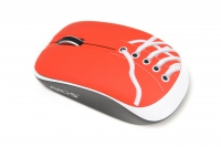 NGS Red Sneaker Wireless USB Ottico 800DPI Ambidestro mouse