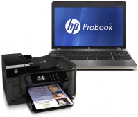 "HP ProBook 4530s + Officejet 6500A Plus e-All-in-One - E710n 2.3GHz i5-2410M 15.6"" 1366 x 768Pixel 3G"