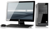 HP Elite 7300 MT + 2211x 3.3GHz i3-2120 Microtorre Nero PC