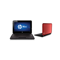 "HP Mini 110-3862ss 1.66GHz N455 10.1"" 1024 x 600Pixel Rosso Netbook"