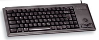 Cherry Compact keyboard with trackball USB+PS/2 QWERTY Nero tastiera