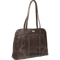 "Case Logic London Crocodile Embossed Notebook Tote 14"" Ventriquattore da donna Nero"