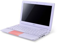 "Acer Aspire One Happy AOHAPP2 1.66GHz N570 10.1"" 1024 x 600Pixel Bianco, Rosa Netbook"