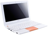 "Acer Aspire One Happy AOHAPP2 1.66GHz N570 10.1"" 1024 x 600Pixel Bianco, Arancione Netbook"