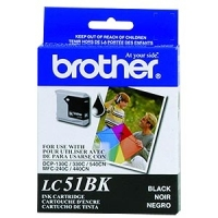 Brother LC-51BK Black Inkjet Cartridge Nero cartuccia d