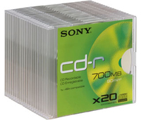 Sony 20 PACK CDR 700MB 48X 700MB 20pezzo(i)