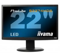 "iiyama ProLite B2274HDS 21.5"" Full HD TN+Film Nero monitor piatto per PC"