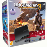Sony PlayStation 3 Slim, 320Gb + Uncharted 3: Drake