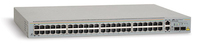 Allied Telesis 48x 10/100TX + 2x 10/100/1000T & 2 SFP Web Smart Switch, US power cord Gestito