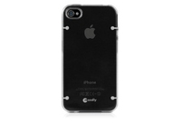 Macally Glow-in-the-dark f/ iPhone 4S/4 Cover Nero, Grigio