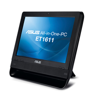 "ASUS ET ET1611PUT-B004E 1.8GHz D425 15.6"" 1366 x 768Pixel Touch screen Nero PC All-in-one"