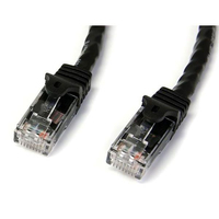 StarTech.com 3 ft Black Snag-less Category 6 Patch Cable - ETL Verified 0.91m Nero cavo di rete