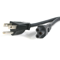 StarTech.com 6 ft 3-Slot Laptop Power Cable 1.83m Nero cavo di alimentazione